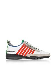 Dsquared2 White And Red Leather Sneaker