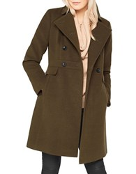 Miss Selfridge Double Breasted Coat Dark Green