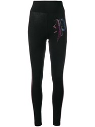 Philipp Plein P Embellished Leggings Black
