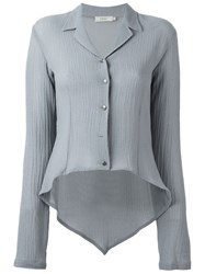 Romeo Gigli Vintage High Low Hem Shirt Grey