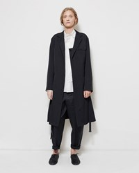 Y's Draped Wool Trench Coat