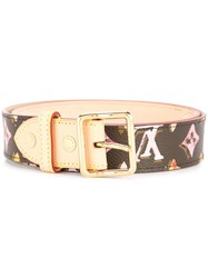 Louis Vuitton Vintage Ceinture Buckle Belt Brown