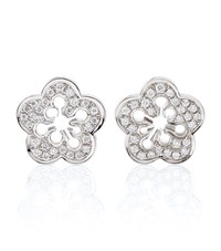 Boodles Blossom Stud Earrings Silver
