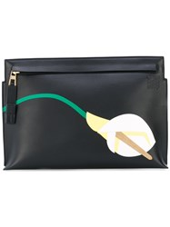 Loewe Flower 'T' Pouch Women Leather One Size Black