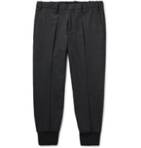 Neil Barrett Tapered Woven Trousers Gray