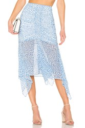 C Meo Collective So Settled Skirt In Blue Abstract Floral