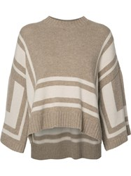 Derek Lam 10 Crosby Loose Fit Jumper Nude Neutrals