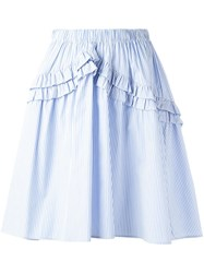 N 21 No21 A Line Ruffle Skirt Blue