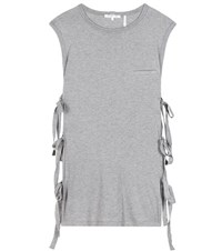 Helmut Lang Cotton And Cashmere Top Grey