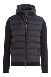 Woolrich Puffer Coat With Contrast Sleeves Blue