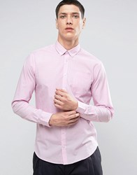 Casual Friday Button Down Collar Shirt With Pocket 50662 Cameo Pink