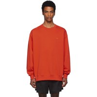 Acne Studios Red Oversized Forba Face Sweatshirt