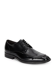 Saks Fifth Avenue Red Moc Toe Leather Oxfords Black