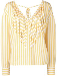 Msgm Striped Blouse Yellow