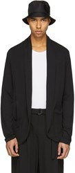 Attachment Black Cotton Cardigan