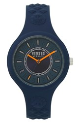 Versus By Versace Fire Island Silicone Strap Watch 39Mm Grey Orange