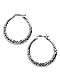 Lord And Taylor Sterling Silver Swirl Hoop Earrings
