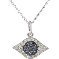 Ileana Makri Women's Diamond And Sapphire Kitten Eye Pendant Necklace No Color