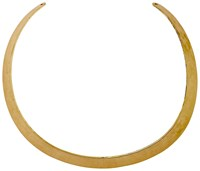 Pilgrim Pretty Gold Plated Cuff Neck Ring N A N A