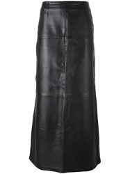 Kenzo Vintage Embroidered Long Skirt Black