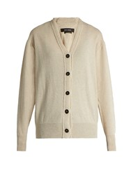 Isabel Marant Chars Wool And Cotton Blend Cardigan Ivory