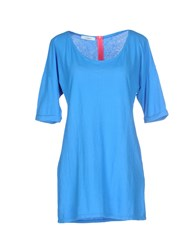 .. Merci Topwear T Shirts Women Blue