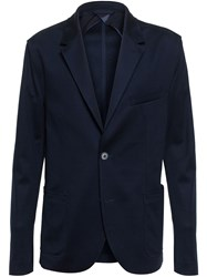 Lanvin Tailored Jersey Jacket Blue