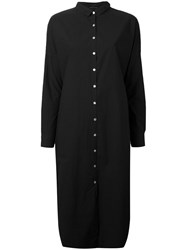 Album Di Famiglia Midi Shirt Dress Women Cotton S Black