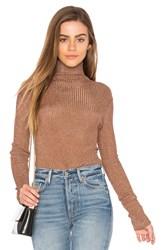 Tibi Turtleneck Metallic Copper