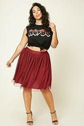Forever 21 Plus Size Pleated Tulle Skirt