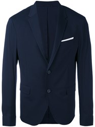 Neil Barrett Single Breasted Dinner Jacket Men Cotton Polyamide Polyester Viscose 50 Blue