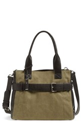 Treasure And Bond Belted Canvas Tote Green Green Dark