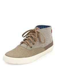 Ben Sherman Percy Hi Colorblock Canvas Sneaker Chestnut