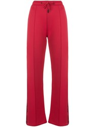 Kenzo Logo Tape Track Pants Red