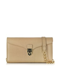 Aspinal Of London Caramel Saffiano Leather Mini Manhattan Clutch