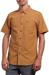 Volcom Frequency Dot Short Sleeve Woven Shirt Old Gold