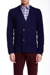 Gant The Doubler Cardigan Blue