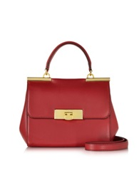 Michael Kors Marlow Genuine Leather Small Satchel Chili