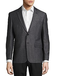 John Varvatos Textured Wool Blend Blazer Black White