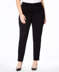 Style And Co Co. Plus Size Tummy Control Skinny Jeans Only At Macy's Black