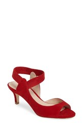 Pelle Moda Women's Berti Peep Toe Sandal Lipstick Leather