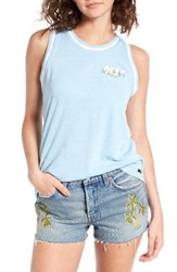 Obey Women's Overgrown Trippin Tank China Blue