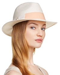Aqua Bow Detail Fedora 100 Exclusive Natural Pink