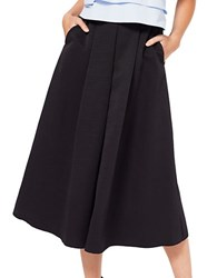 Miss Selfridge Pleated Maxi Skirt Black