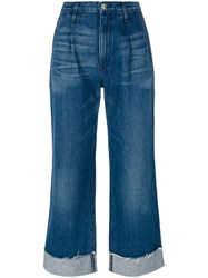 3X1 High Rise Flared Jeans Women Cotton 26 Blue