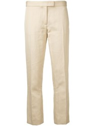 Joseph Cropped Trousers Women Cotton Ramie Polyester Acetate 42 Nude Neutrals