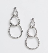 Accessorize Silver Diamante Tierred Earrings