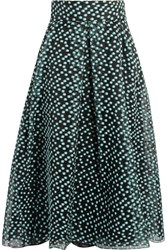 Lela Rose Polka Dot Organza Skirt Gray Green