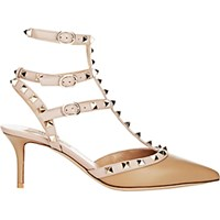 Valentino Women's Rockstud Caged Pumps Tan
