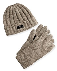 Ugg Men's Hat And Glove Box Set Oatmeal Brown